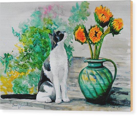 Da129 Miss Kitty Daniel Adams Wood Print