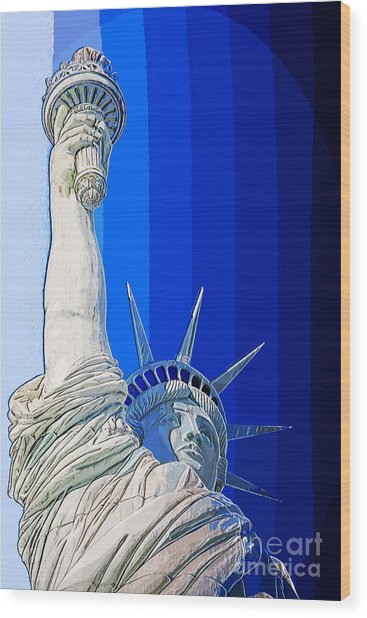 Miss Liberty Wood Print