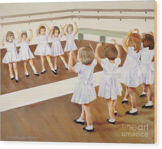Miss Lum's Ballet Class Wood Print