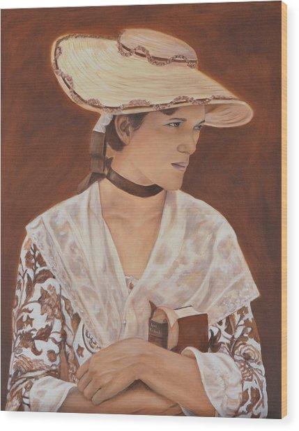 Miss Nichols Wood Print