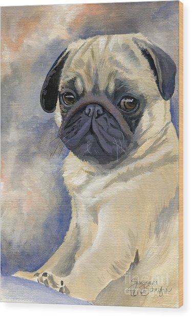 Miss Puggles Wood Print