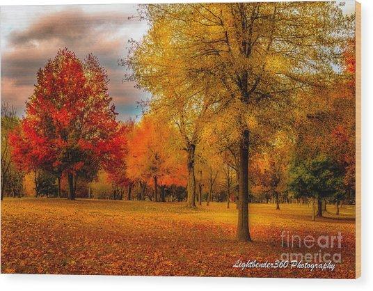 Missing Fall Wood Print