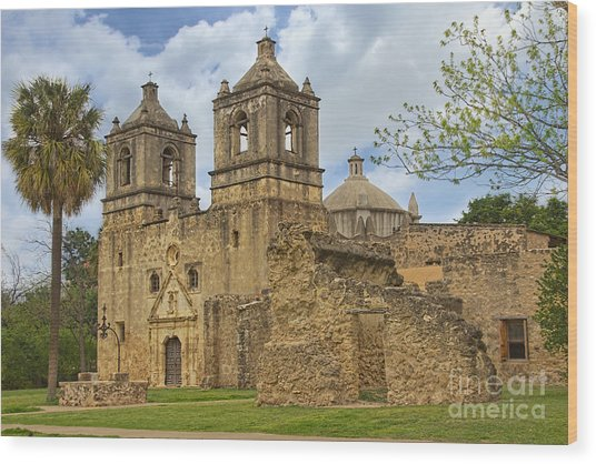 Mission Concepcion Wood Print