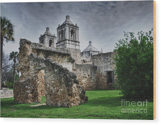 Mission Concepcion San Antonio Texas Wood Print
