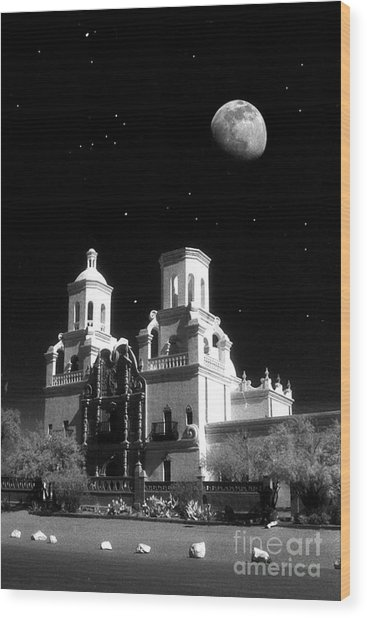 Mission Del Bac Wood Print by Robert Kleppin