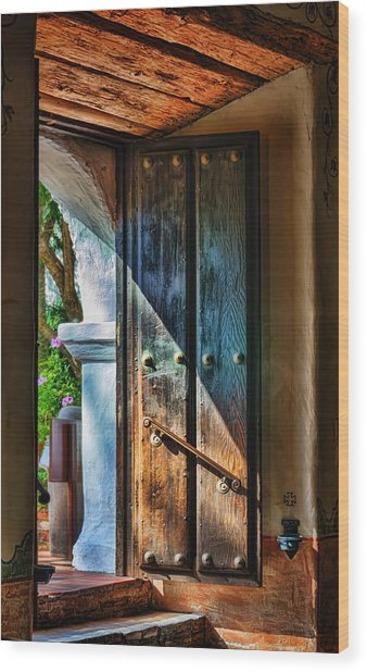 Mission Door Wood Print