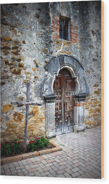 Mission Espada - Doorway Wood Print