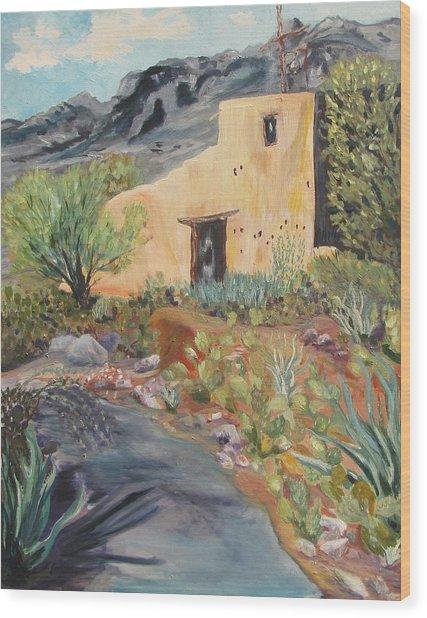 Mission In The Sun Wood Print by Caroline Owen-Doar