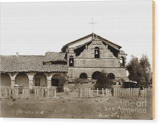 Mission San Antonio De Padua California Circa 1885 Wood Print