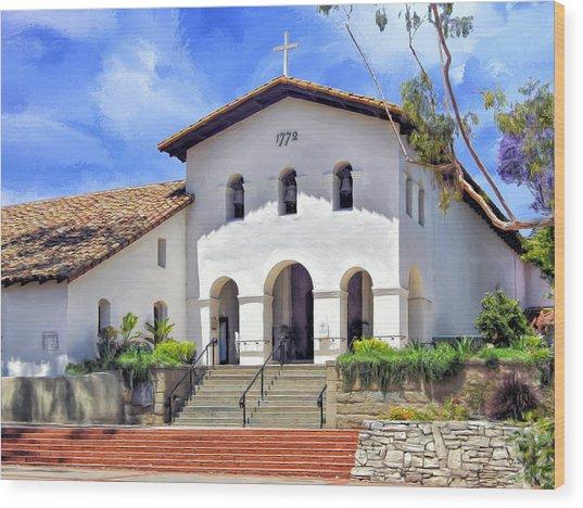 Mission San Luis Obispo De Tolosa Wood Print