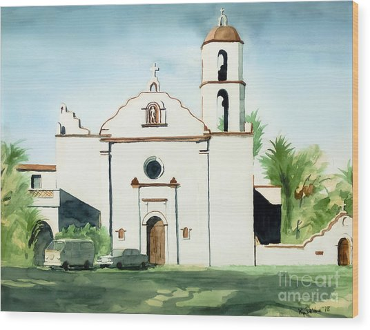 Mission San Luis Rey Colorful II Wood Print