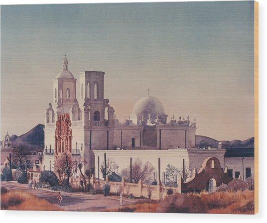 Mission San Xavier Del Bac Tucson Wood Print