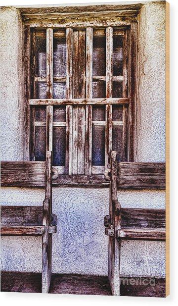 Mission Soledad Window Seating By Diana Sainz Wood Print