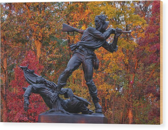 Mississippi At Gettysburg - The Rage Of Battle No. 1 Wood Print