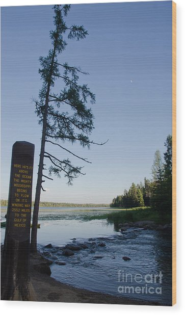 Mississippi Headwaters Wood Print