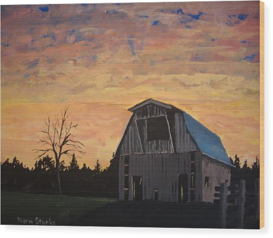 Missouri Barn Wood Print