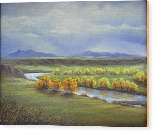 Missouri River At Fort Benton Wood Print