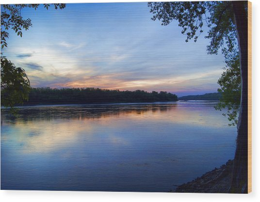 Missouri River Blues Wood Print