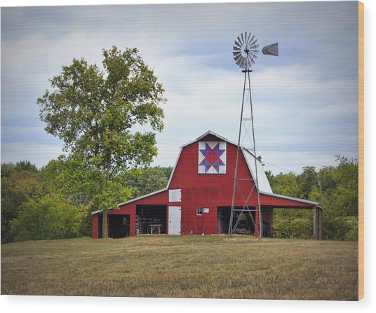 Missouri Star Quilt Barn Wood Print
