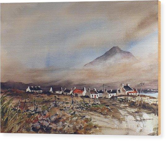 Mist Over Dugort Achill Island Mayo Wood Print