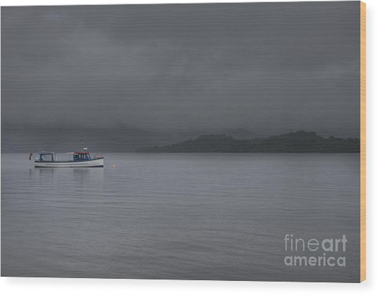 Mist Over Loch Lomond  Wood Print