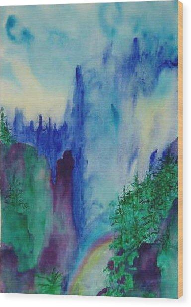 Mist Wood Print by Phoenix Simpson