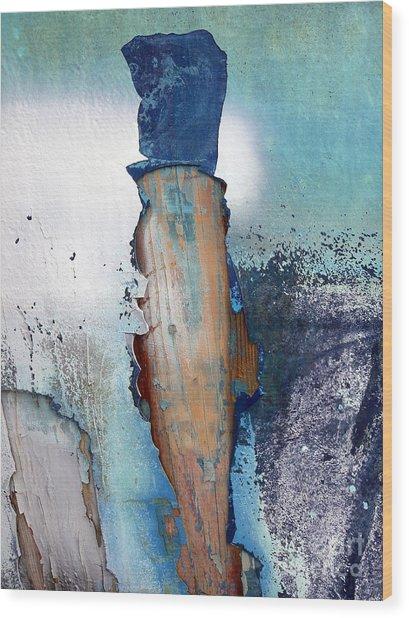 Mister Blue Wood Print