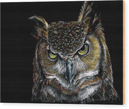 Mister Owl Wood Print