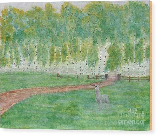 Mist's Guardian Wood Print by Robert Meszaros
