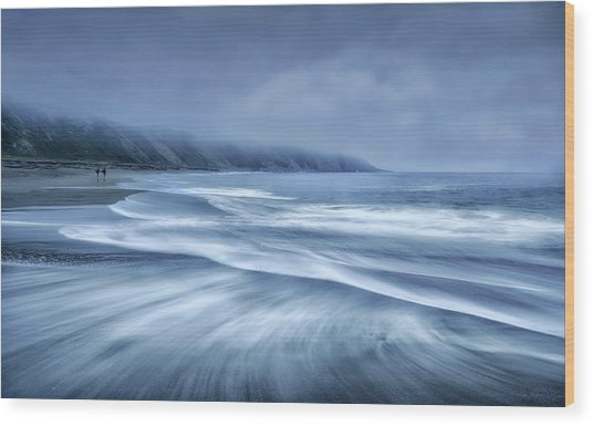 Mists In The Sea Wood Print