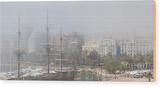 Misty Alicante Wood Print