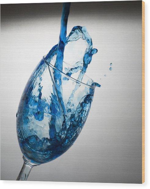 Misty Blue Wood Print by John Hoey