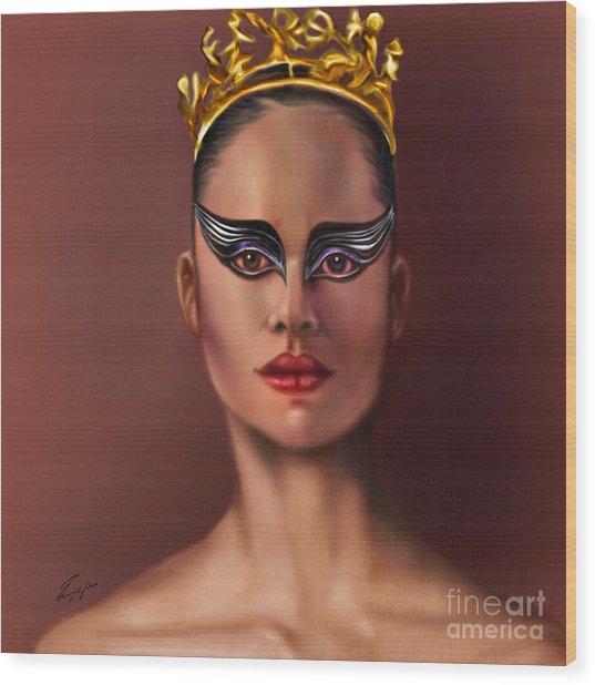 Misty Copeland  As The Black Swan Wood Print