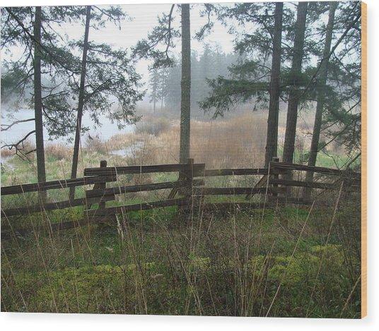 Misty Flats Wood Print