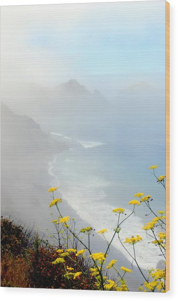 Misty Wood Print by Mamie Gunning