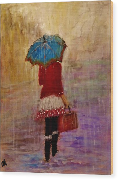 Misty Rain... Wood Print