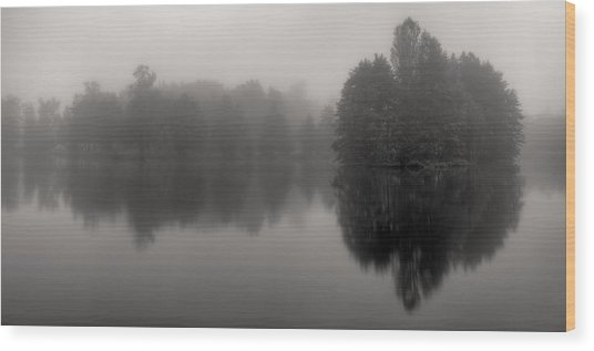 Misty Reflections Wood Print by Patrick Jacquet