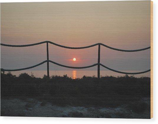 Misty Sunset 1 Wood Print