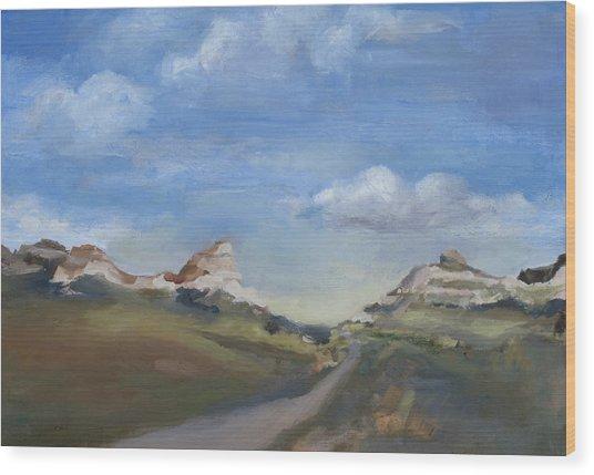 Mitchell Pass Western Nebraska Wood Print by Leigh Morrison