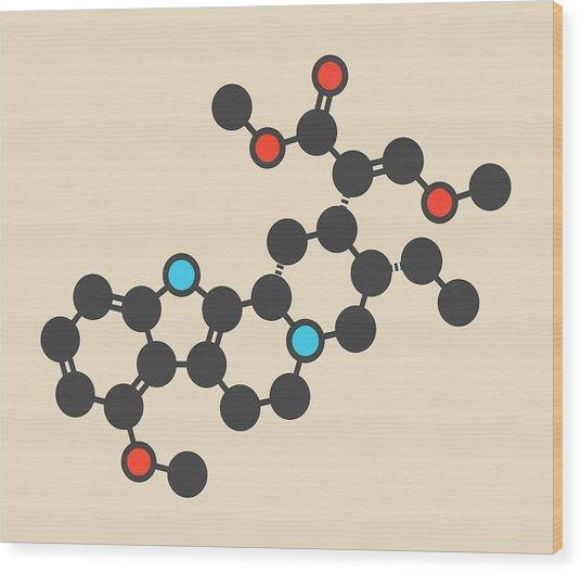 Mitragynine Molecule Wood Print by Molekuul/science Photo Library