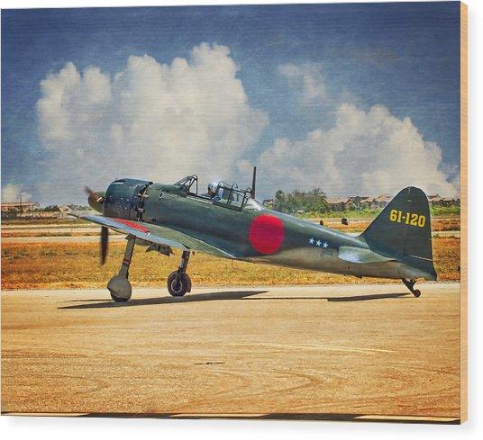 Mitsubishi Zero Fighter Wood Print