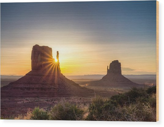 Mittens Sunrise Wood Print