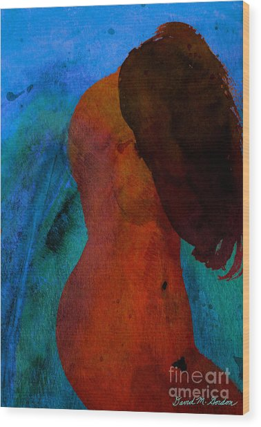 Mixed Media Figure Wood Print