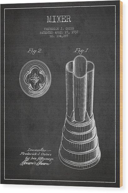 Mixer Patent From 1937 - Dark Wood Print