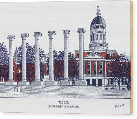 Mizzou - University Of Missouri Wood Print