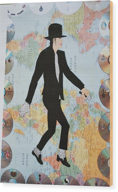 Mj We Are The World Wood Print