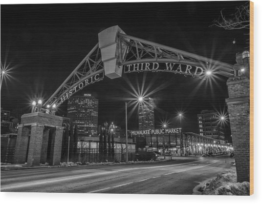 Mke Third Ward Wood Print