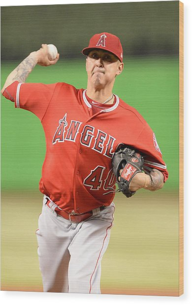 Mlb: May 26 Angels At Marlins Wood Print by Icon Sportswire