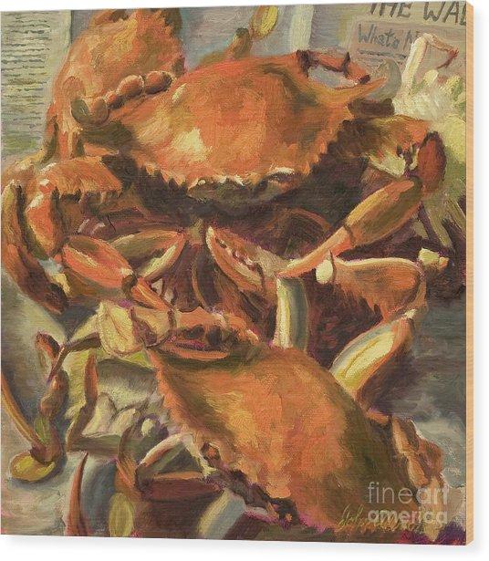 Mo Crabs Wood Print