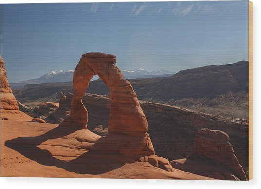 Moab Wood Print by Jeff Welton